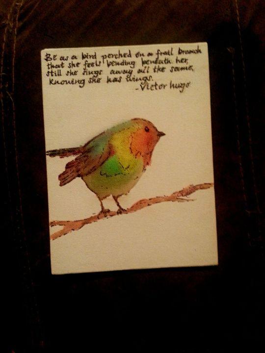 Watercolor Inspirational Birds - Dancing in the Hallway