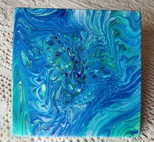 Tropical Bay Waters Tile Trivet