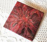 Red Fire Lily tile Trivet