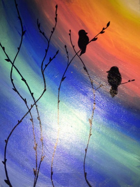 Morning song birds - Brianna's paintings