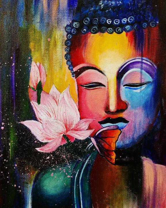 Buddha Painting - Hamsha_art