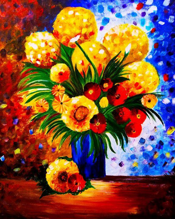 Flower Painting - Hamsha_art