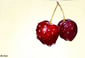 Dripping Cherries - Enchanted Art