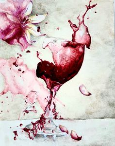 Shattered Wine Glass - Enchanted Art