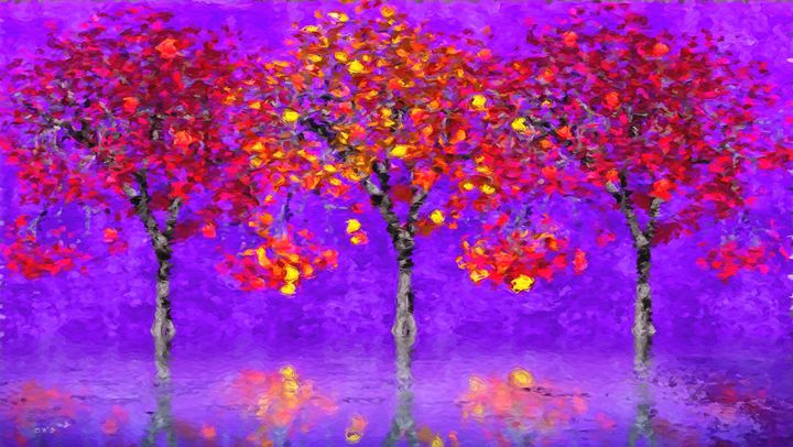 Colorful Autumn - GabriellasArt by Gabriella Weninger-David