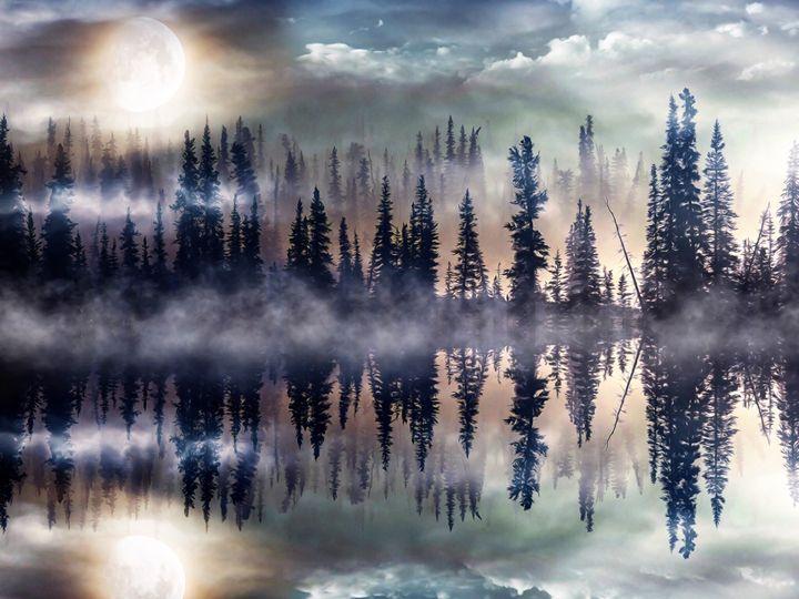 Mystic Lake - GabriellasArt by Gabriella Weninger-David