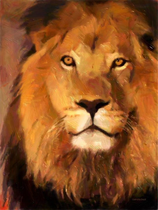 The Lion - GabriellasArt by Gabriella Weninger-David