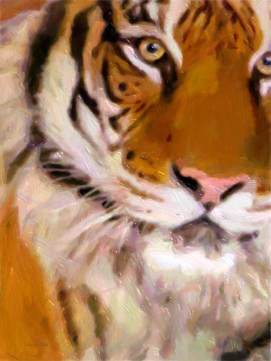 The Tiger - GabriellasArt by Gabriella Weninger-David