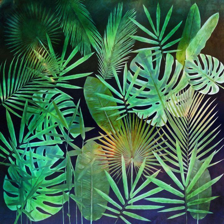 Green Tropical Leaves - GabriellasArt by Gabriella Weninger-David