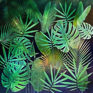 Green Tropical Leaves - GabriellasArt by Gabriella Weninger-David