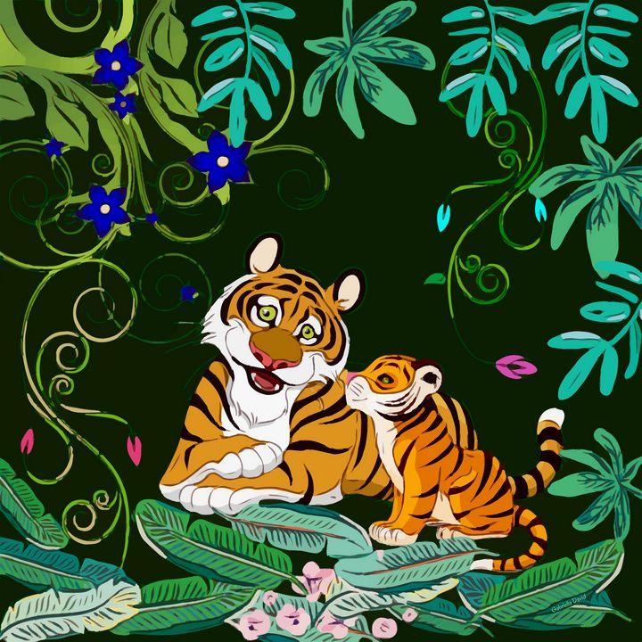 Happy Tigers - GabriellasArt by Gabriella Weninger-David