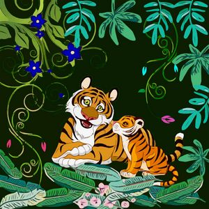 Happy Tigers - GabriellasArt by Gabriella Weninger-David