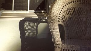 Porch chair shadow