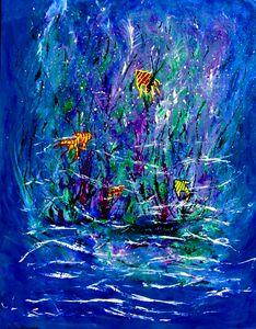 Watery Deep Blue