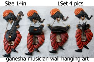 Ganesha Musician Iron craft Wallart