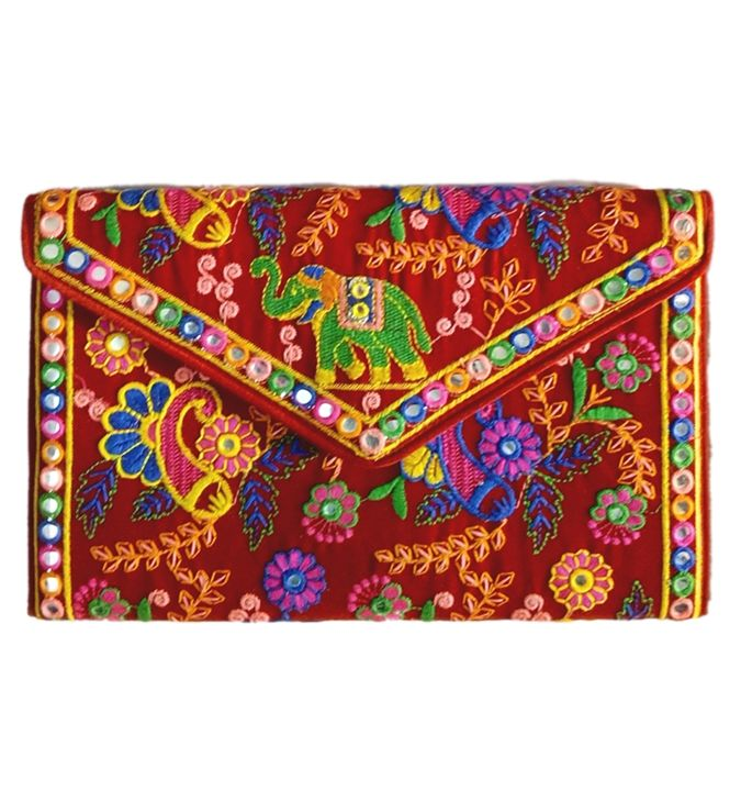 Embroidery Clutch Bag - LAKSHIT EXPORT INDIA