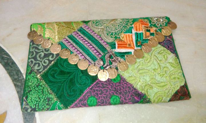 Zari Coin Clutch Purse - LAKSHIT EXPORT INDIA