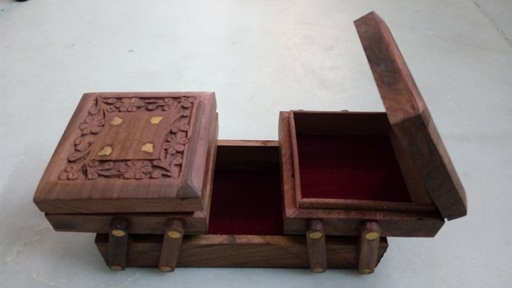 Wooden Jewellery Multi Box - LAKSHIT EXPORT INDIA