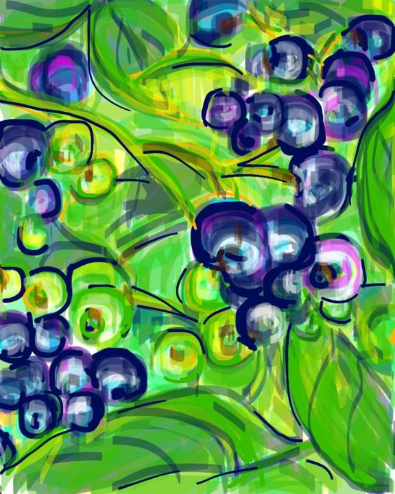 Blueberries - Susan Hess