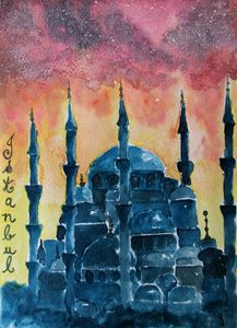 Abstract Istanbul - Paintings by Sam