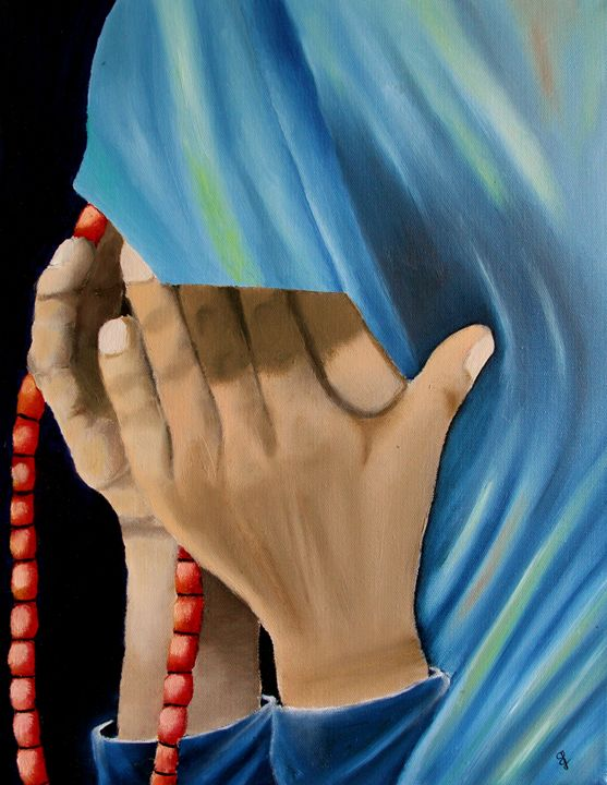 The Praying Lady - Paintings by Sam