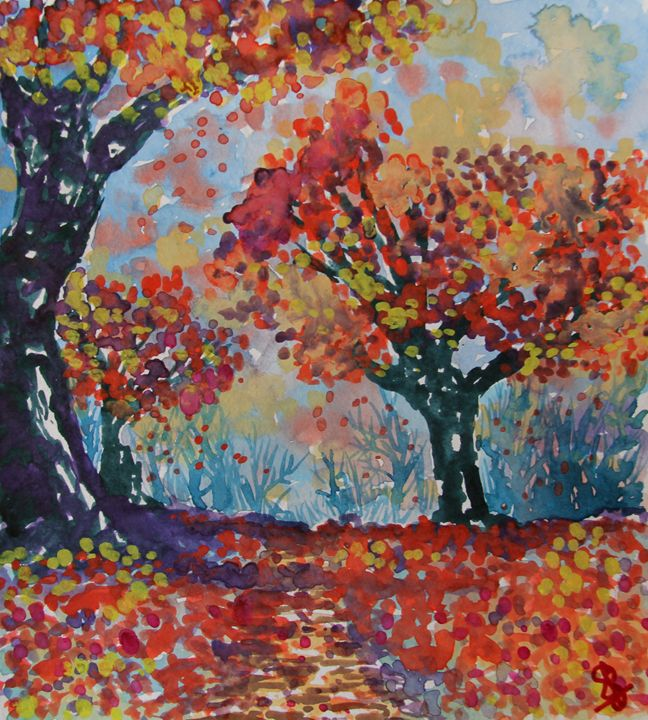 Leafy woods - Paintings by Sam