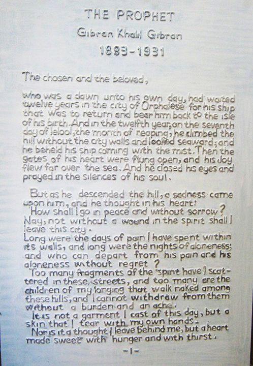 Le Prophète de Gibran Khalil Gibran - L'Artifex