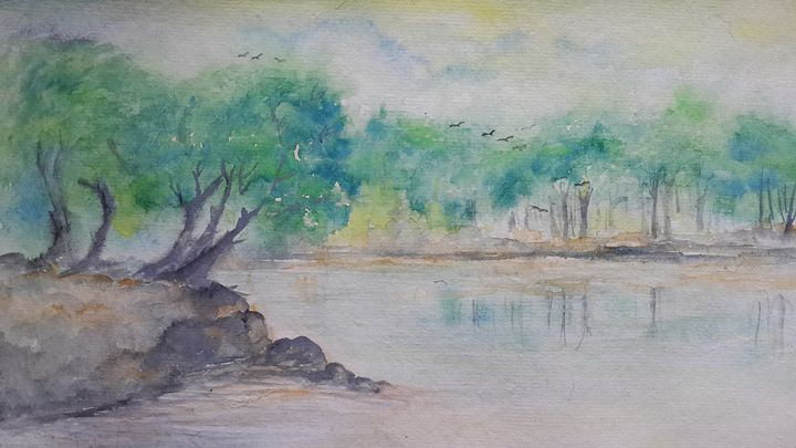 Water colour painting - SipraCreation