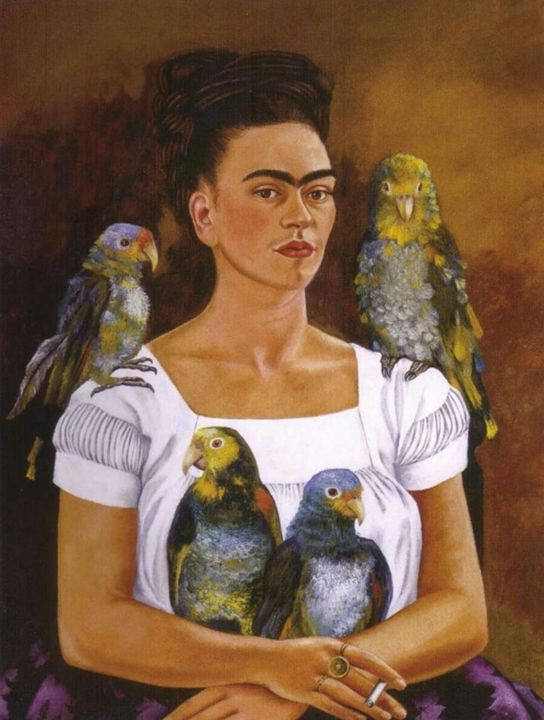 Frida and the parrots - Frangio