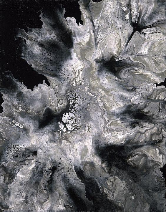 White on black abstract - Zen Den Artistry
