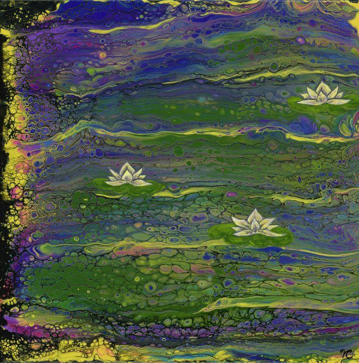 Floating water lilies - Zen Den Artistry