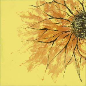 Abstract sunflower - Zen Den Artistry