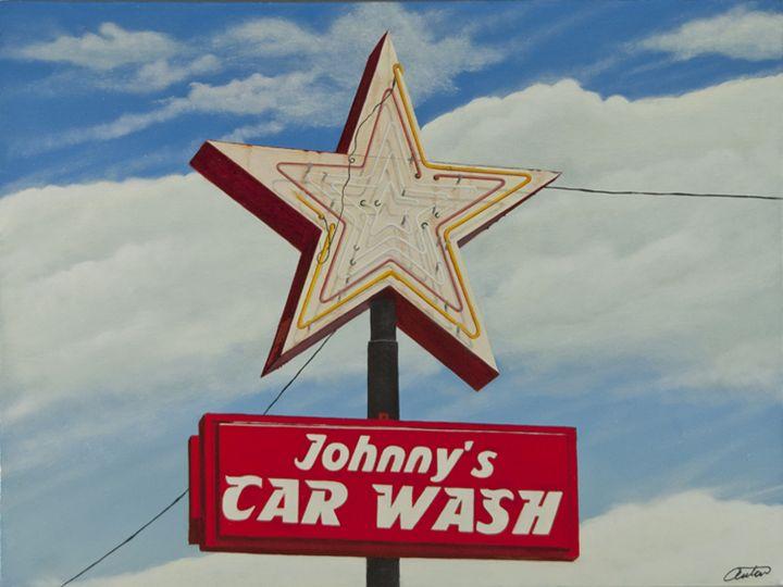 Johnny's Car Wash - Jon Anton Art