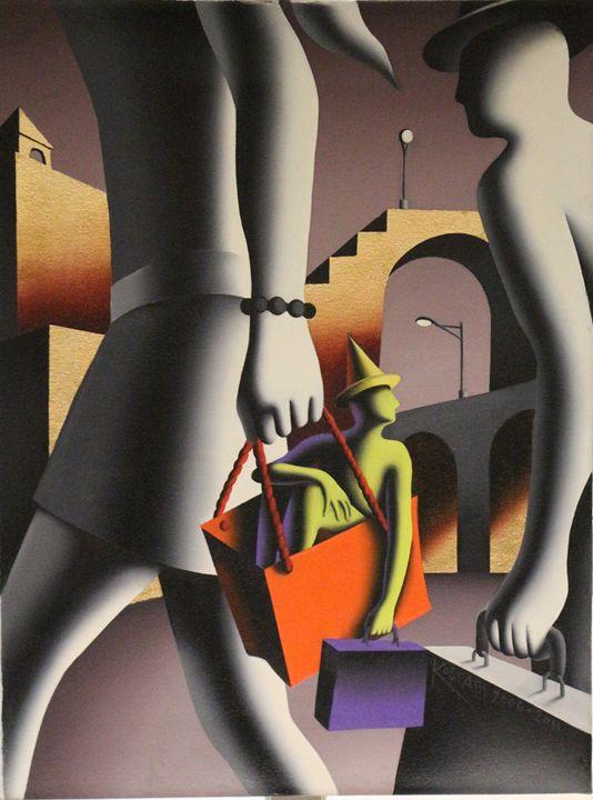 Mark Kostabi Original Painting - Mark Kostabi