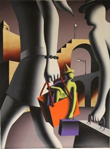 Mark Kostabi Original Painting