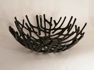 Black Beauty Coral Bowl - Winston's Gallery