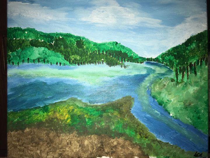 Afternoon lakeside - Lamorasartwork