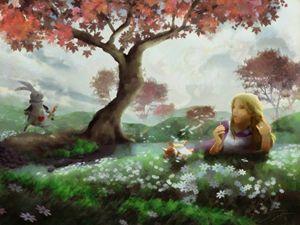 Alice Meets the White Rabbit