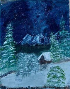 Winter Romantic Getaway - Art By Robin