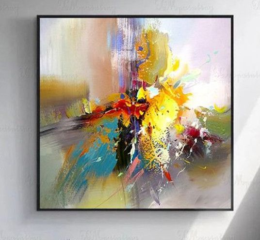 Abstract Flower Painting; in Oil - Art Gallery Roma