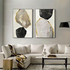Abstract Rocks; Oil on Canvas