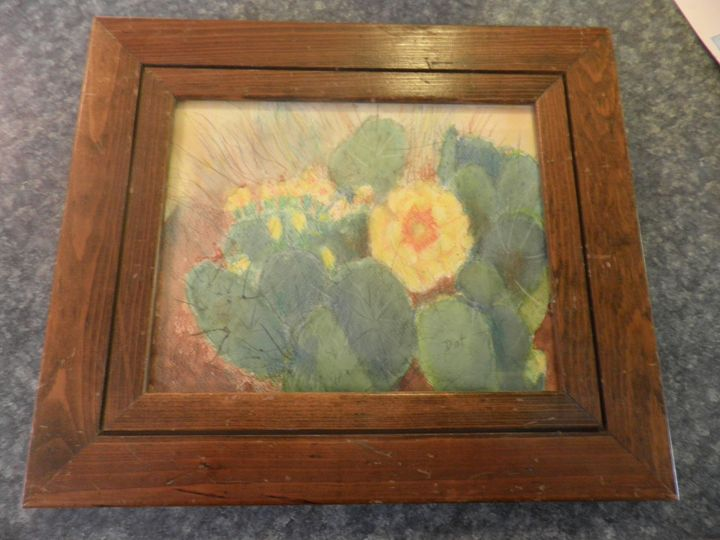 Yellow Cactus Blossom - Reflections by Dorothy Blalock