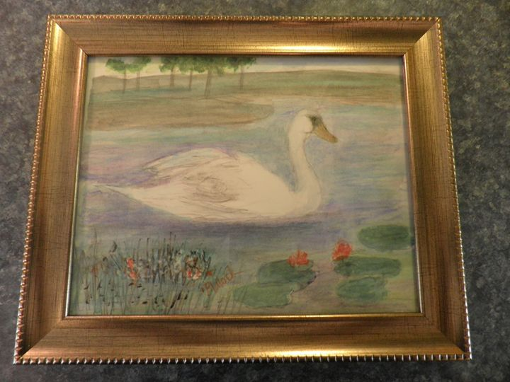 Swan - Reflections by Dorothy Blalock