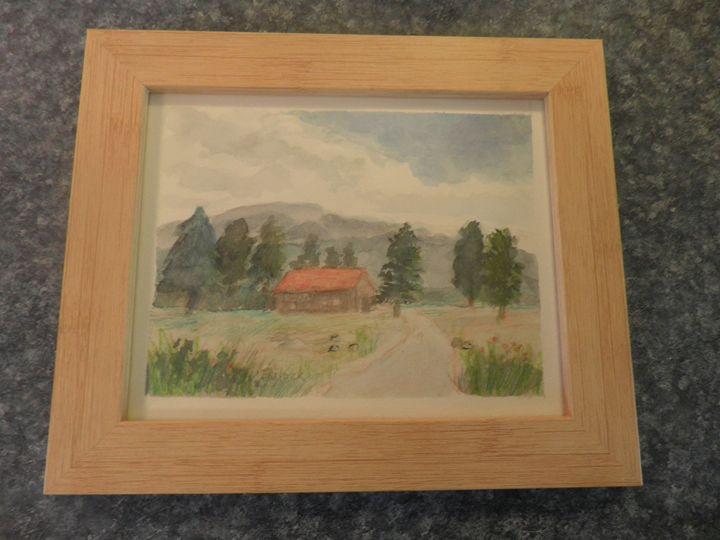 Colorado Cabin - Reflections by Dorothy Blalock