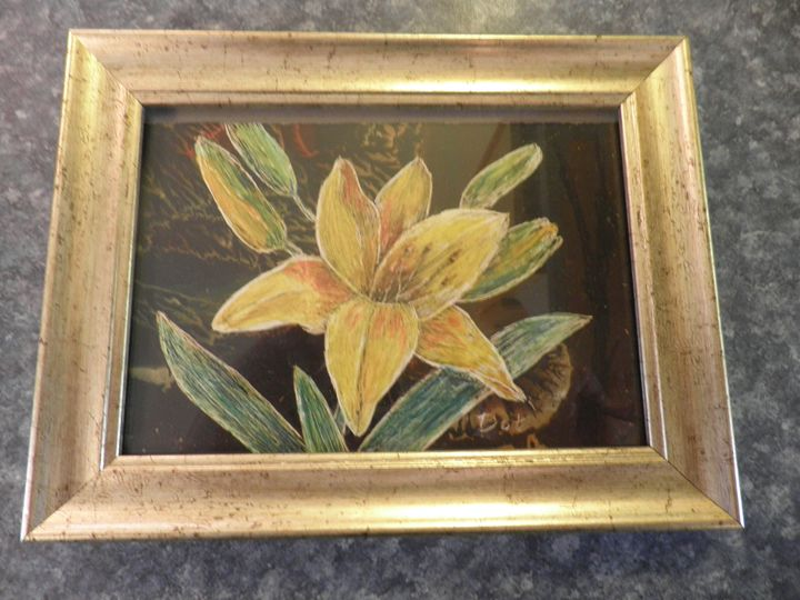 Yellow Lily - Reflections by Dorothy Blalock