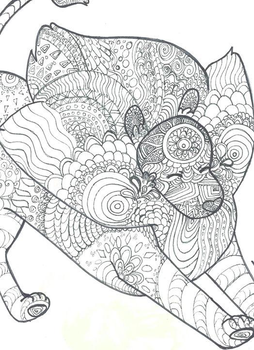 Lion taking a stretch - Adriel Eades