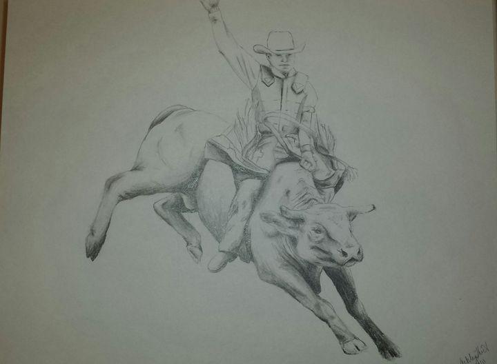 Bull Riding - Western creative arts