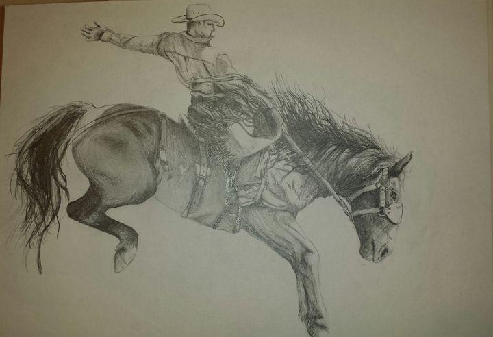 Bronc Ride - Western creative arts