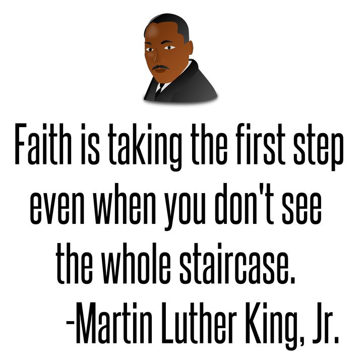 Faith is taking the first step - Perfect designers
