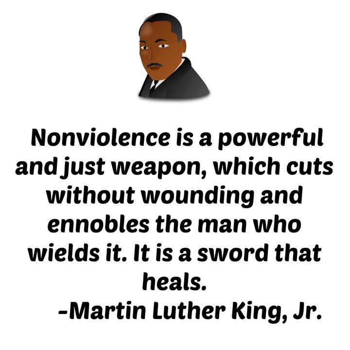 Nonviolence just and powerful weapon - Perfect designers